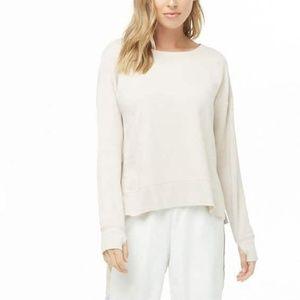 NWT fleece sweatshirt - blush/cream - M